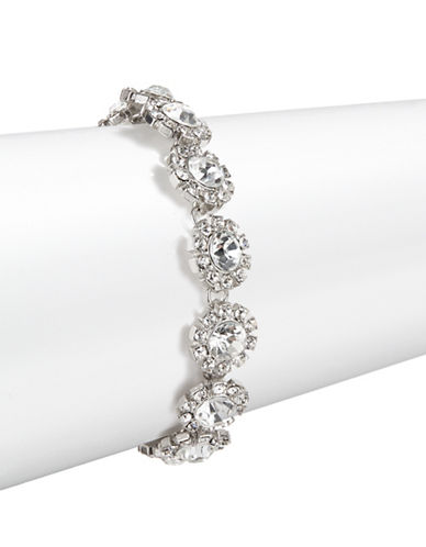 Expression Rhinestone Detail Bracelet-SILVER-One Size