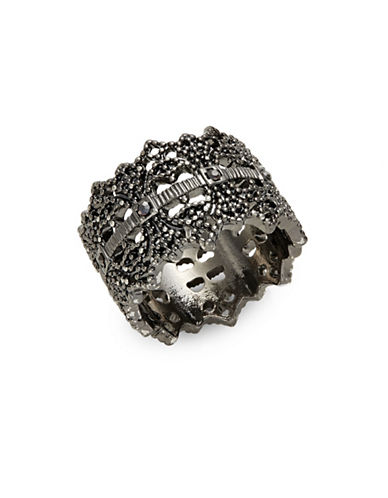 Expression Filigree Band Ring-DARK GREY-7