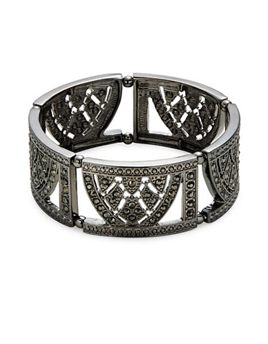 Expression Stretch Bangle Bracelet-DARK GREY-One Size