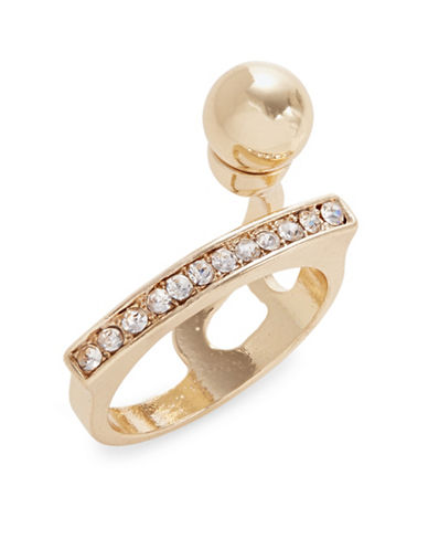 Expression Pave Bar and Ball Ring-GOLD-9