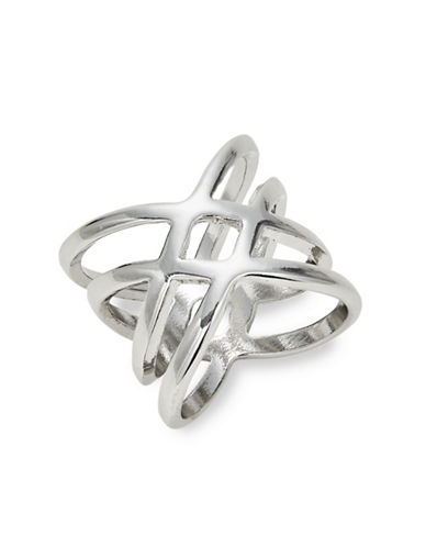 Expression Silvertone Wrap Ring-SILVER-8