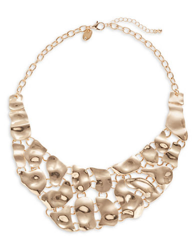 Expression Hammered Metal Necklace-GOLD-One Size