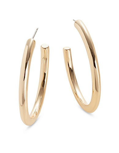 Expression Thick Half Hoop Earrings-GOLD-One Size