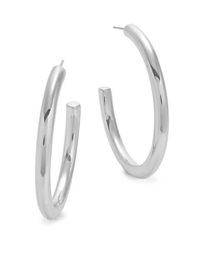 Expression Thick Half Hoop Earrings-SILVER-One Size