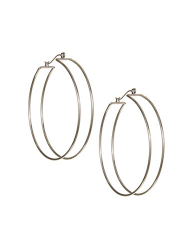 Expression Double Hoop Earrings-SILVER-One Size
