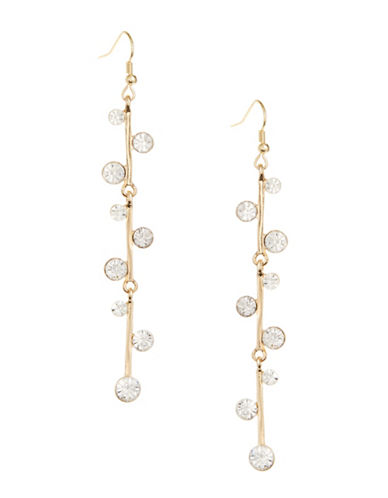 Expression Vine Bar Drop Earrings-GOLD-One Size