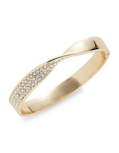 Expression Twisted Pave Hinge Bracelet-GOLD-One Size