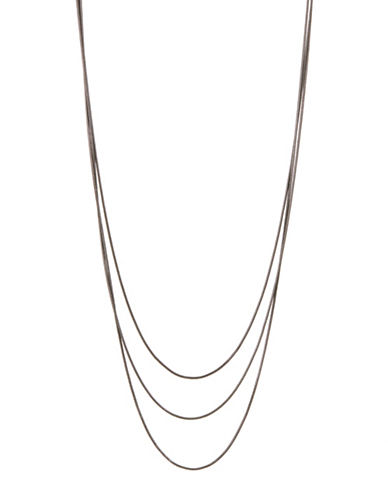 Expression Snake Chain Necklace-GREY-One Size