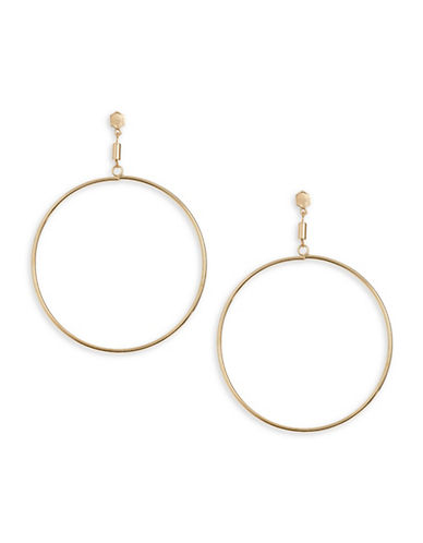 Design Lab Lord & Taylor Big Hoop Earrings-GOLD-One Size