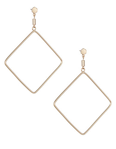 Design Lab Lord & Taylor Goldtone Lozenge Earrings-GOLD-One Size