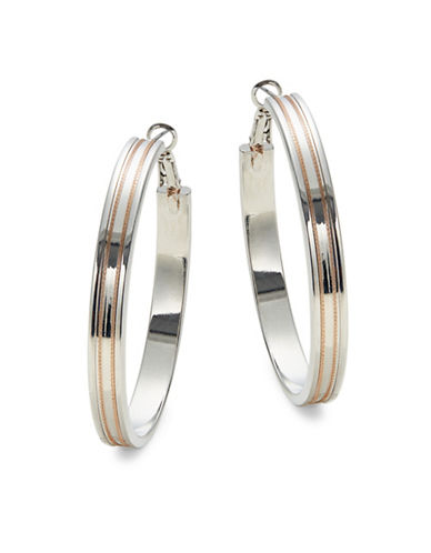 Design Lab Lord & Taylor Multitone Hoop Earrings-TWO TONE-One Size