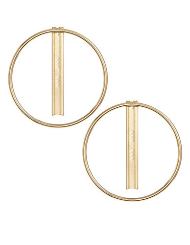 Design Lab Lord & Taylor Goldtone Hoop and Post Earrings-GOLD-One Size