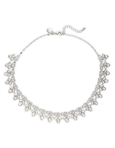 Expression Crystal Statement Necklace-SILVER-One Size