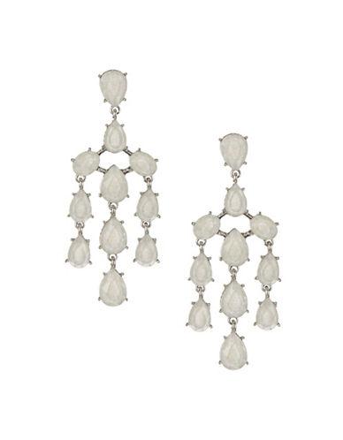 Expression Teardrop Chandelier Earrings-WHITE-One Size