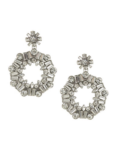 Expression Multi-Stone Open Disc Earrings-SILVER-One Size