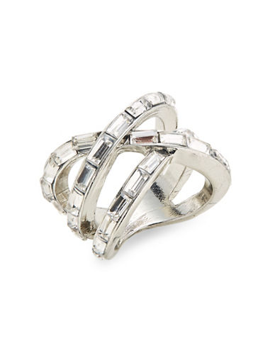 Expression Crystal Wrap Ring-SILVER-7