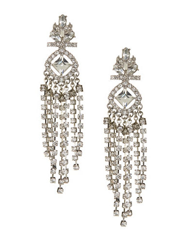 Expression Studded Drop Earrings-SILVER-One Size