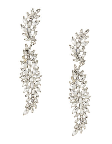 Expression Multi-Navette Crystal Drop Earrings-SILVER-One Size