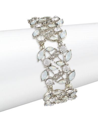 Expression Navette Stone Stretch Bracelet-SILVER-One Size