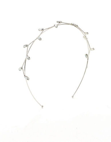 Expression Navette Stone Detail Headband-SILVER-One Size