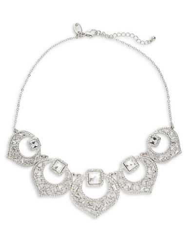 Expression Crystal Five-Section Statement Necklace-SILVER-One Size
