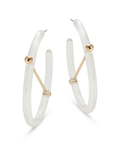 Design Lab Lord & Taylor Transparent Half Hoop Earrings-CLEAR-One Size