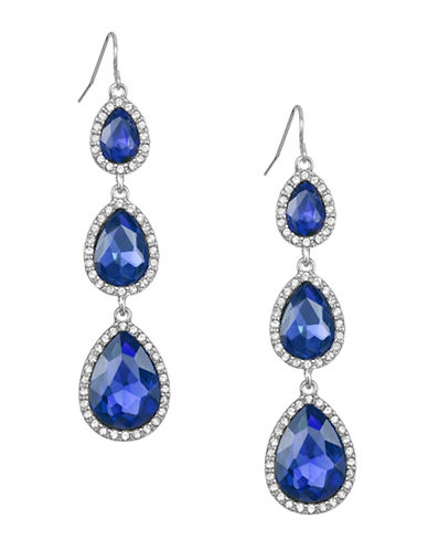 Expression Stone Teardrop Drop Earrings-BLUE-One Size