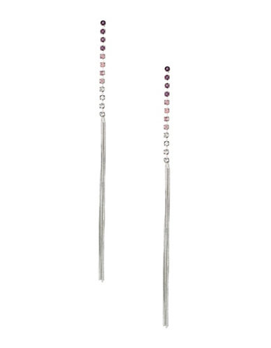 Expression Crystal Tassel Drop Earrings-PURPLE-One Size