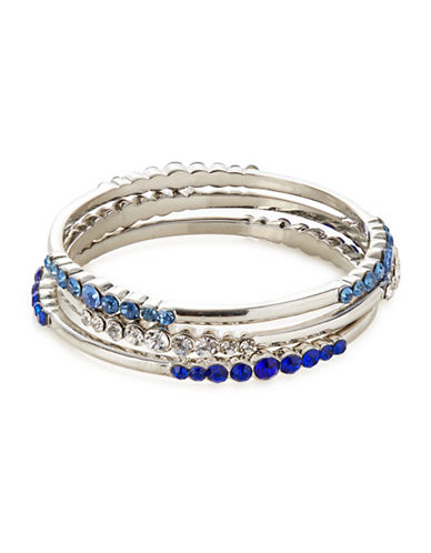 Expression Three-Piece Crystal Bangle Set-BLUE-One Size