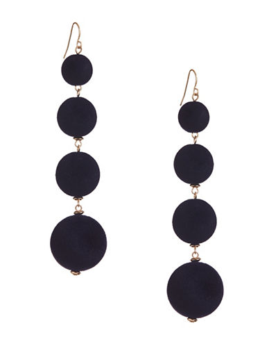 Design Lab Lord & Taylor Multi Velvet Sphere Earrings-BLUE-One Size