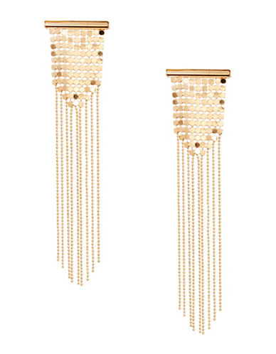 Design Lab Lord & Taylor Disco Mesh Dangle Chandelier Earrings-GOLD-One Size