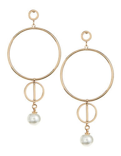 Design Lab Lord & Taylor Multi Circle Faux Pearl Earrings-LIGHT BEIGE-One Size