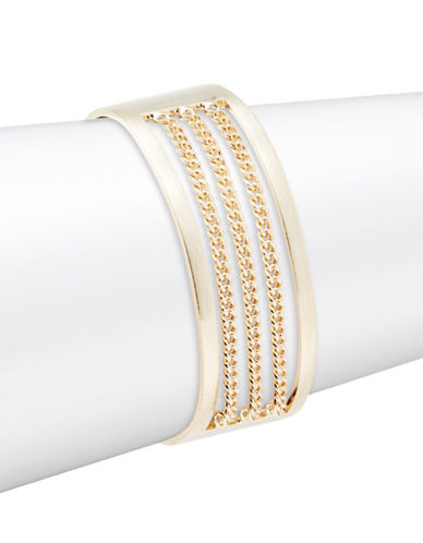 Design Lab Lord & Taylor Goldtone Decorative Chain Cuff-GOLD-One Size