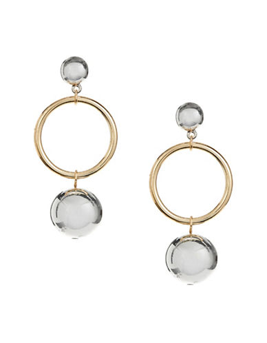 Design Lab Lord & Taylor Hoop and Orb Drop Earrings-ASSORTED-One Size