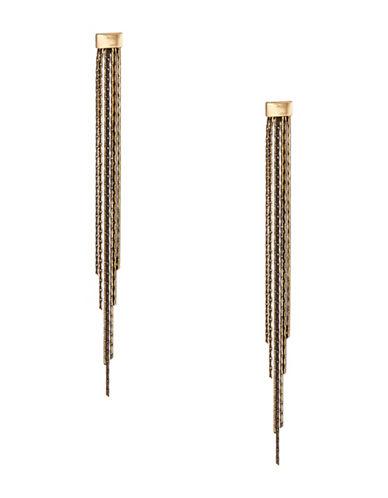 Design Lab Lord & Taylor Snake Chain Tassel Earrings-DARK GREY-One Size