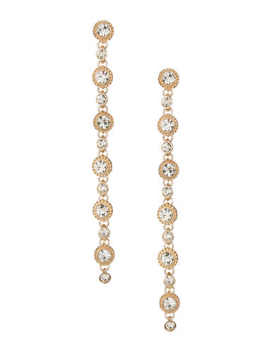 Expression Floral Stone Drop Earrings-GOLD-One Size