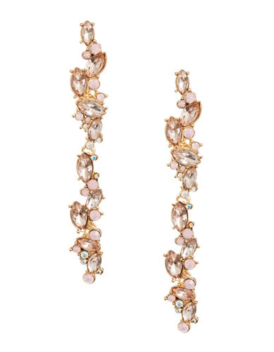 Expression Linear Cluster Drop Earrings-PINK-One Size