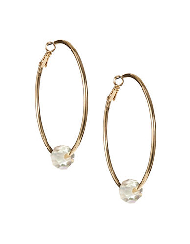 Expression Gold Hoop Beaded Earrings-GOLD-One Size