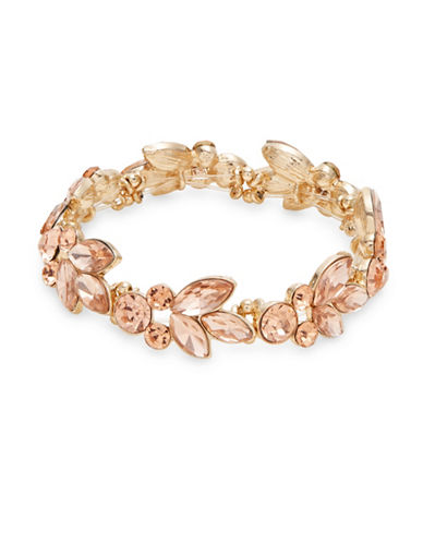 Expression Embellished Stretch Bracelet-ORANGE-One Size