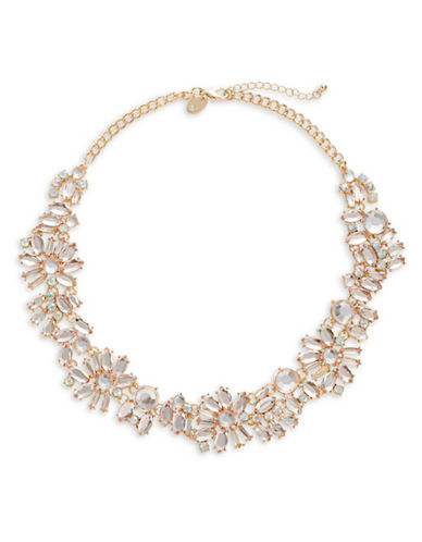 Expression Rhinestone Statement Necklace-PINK-One Size