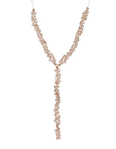 Expression Crystal Navette Stones Y Necklace-ORANGE-One Size