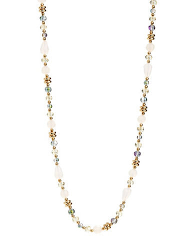 Expression Faceted Crystal Necklace-MULTI-One Size