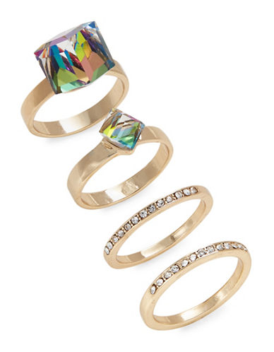 Expression Four-Piece Square Rings Set-ASSORTED-9