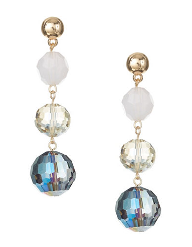 Expression Crystal Drop Earrings-MULTI-One Size