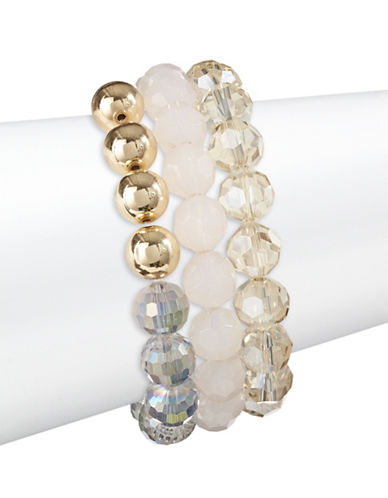 Expression Three-Piece Crystal Beaded Bracelet Set-ASSORTED-One Size