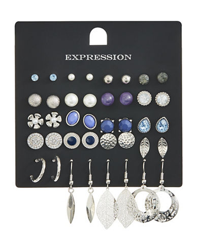 Expression Pack of Twenty Faux Pearl and Crystal Assorted Earring Set-ASSORTED-One Size