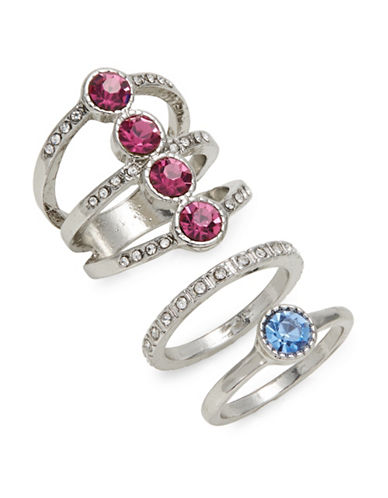 Expression Set of Three Crystal Assorted Rings-ASSORTED-8
