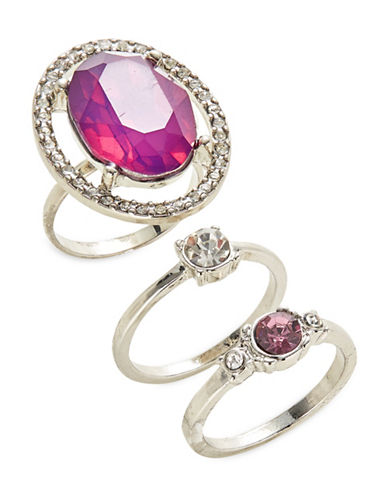 Expression Three-Piece Crystal Ring Set-PURPLE-9