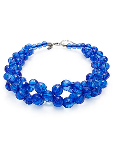 Expression Multi-Bead Statement Necklace-BLUE-One Size