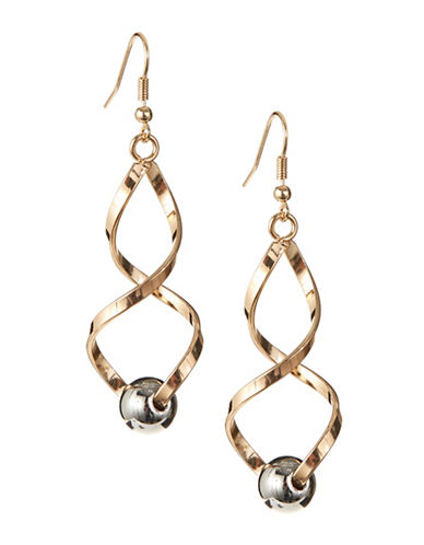 Expression Double Spiral Earrings-GOLD-One Size